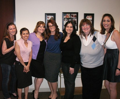 The Staff of Family Creations – From left: Emily Penn, Mechelle Langley, Julia Alkire, Stephanie Goldman-Levich, Azar Mortazavi, Betsy Bina, and Sara Pacheco